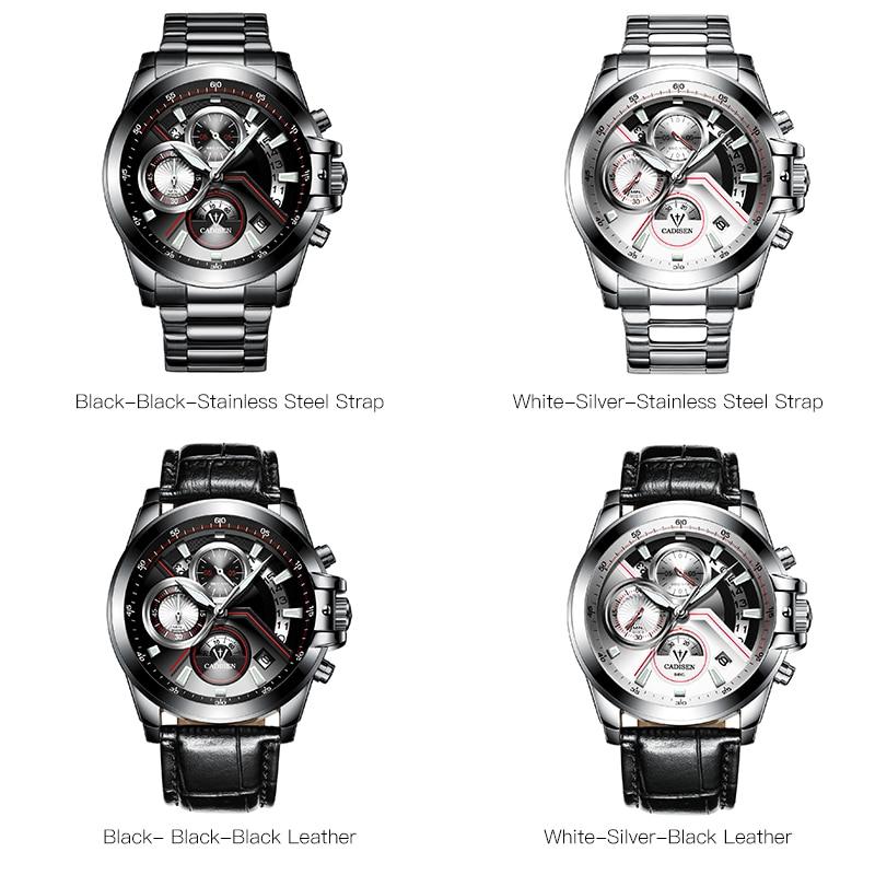 NOWY 2018 Marka CADISEN Zegarki mężczyźni Fashion Casual Zegarek - Męskie zegarki - Zdjęcie 6