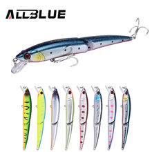 ALLBLUE Joint Minnow 110F Wobbler Fishing Lure Floating Jerkbait 110mm 11g Hard Plastic Artificial Bait Pike Perch Tackle(China)