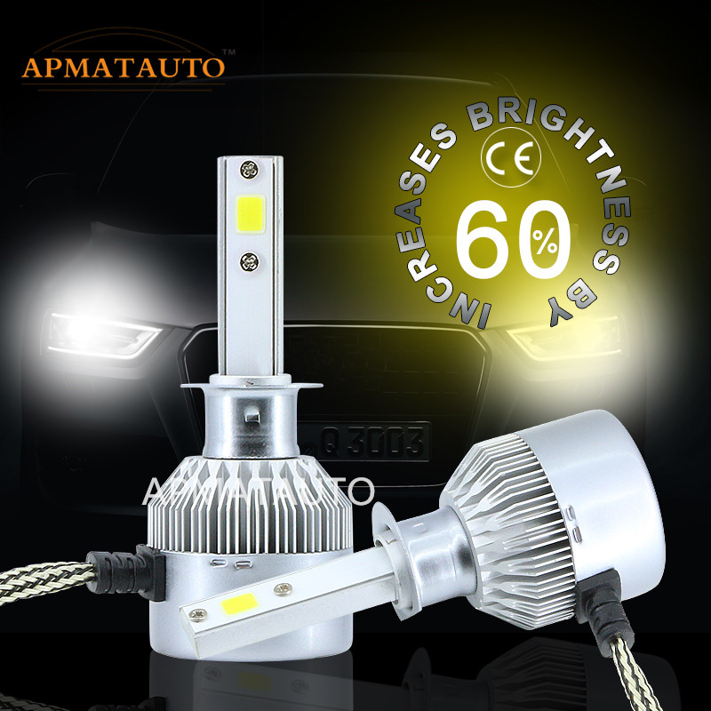 2X White 16000LM LED Headlight Fog Bulb H1 H3 H4 H7 9005 9006 880 881 H27