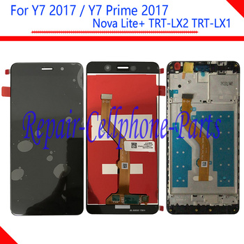 5.5 inch Full LCD DIsplay +Touch Screen Digitizer Assembly + Frame Cover For Huawei Y7 Prime 2017 TRT-LX2 / Nova Lite+ TRT-LX1 image