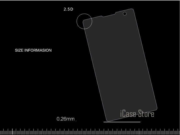 0,26 мм 9H закаленное Стекло для sony Xperia Z (Сони Иксперия З) L36H Z1 Z2 Z3 Z4 Z5 компактный T2 T3 C3 C4 C5 E3 E4 E4G E5 M2 M4 M5 Z5 Премиум Пленка чехол