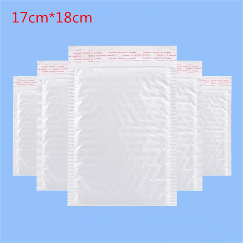 10pcs / (17 * 18cm + 4cm) White Bubble Envelope Bubble Film Bag Pearl Film Envelope Shock Bag