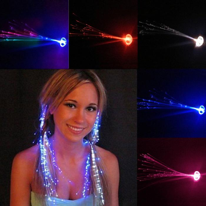 Led hair extensions nightclub ballroom colorful flash led hair colorfulflash pmusecretfo Gallery