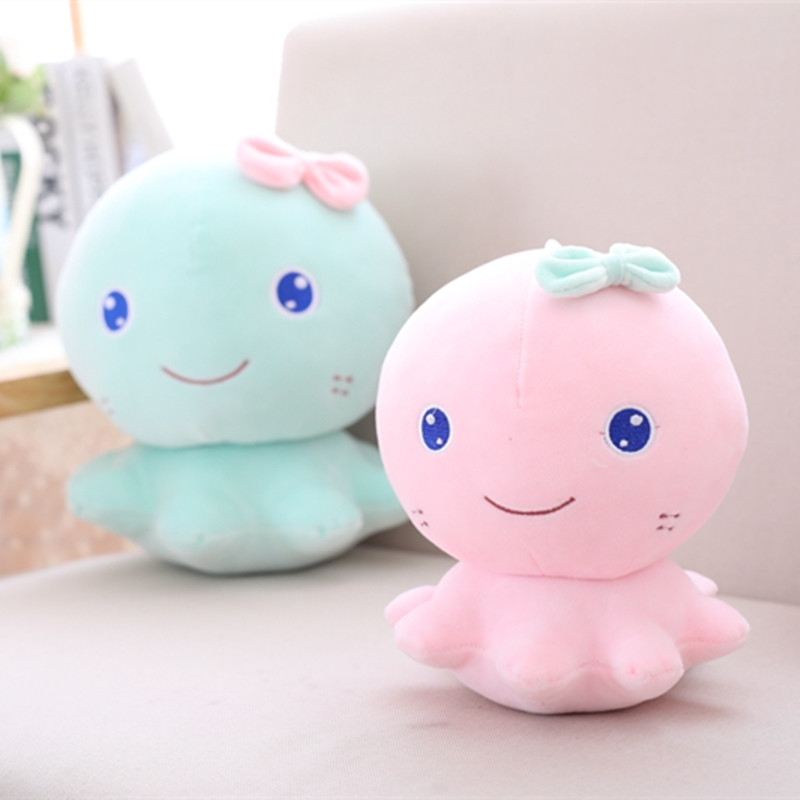 21cm Cute Pink Blue Octopus Plush Toys Staffed Soft Animal Cartoon Doll for Kids Baby Lovely Birthday Christmas Gift for Girls