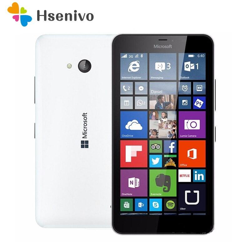 640 original microsoft lumia 640 8mp câmera nfc quad-core 8 gb rom 1 gb ram celular 4g lte fdd 4g 5.0