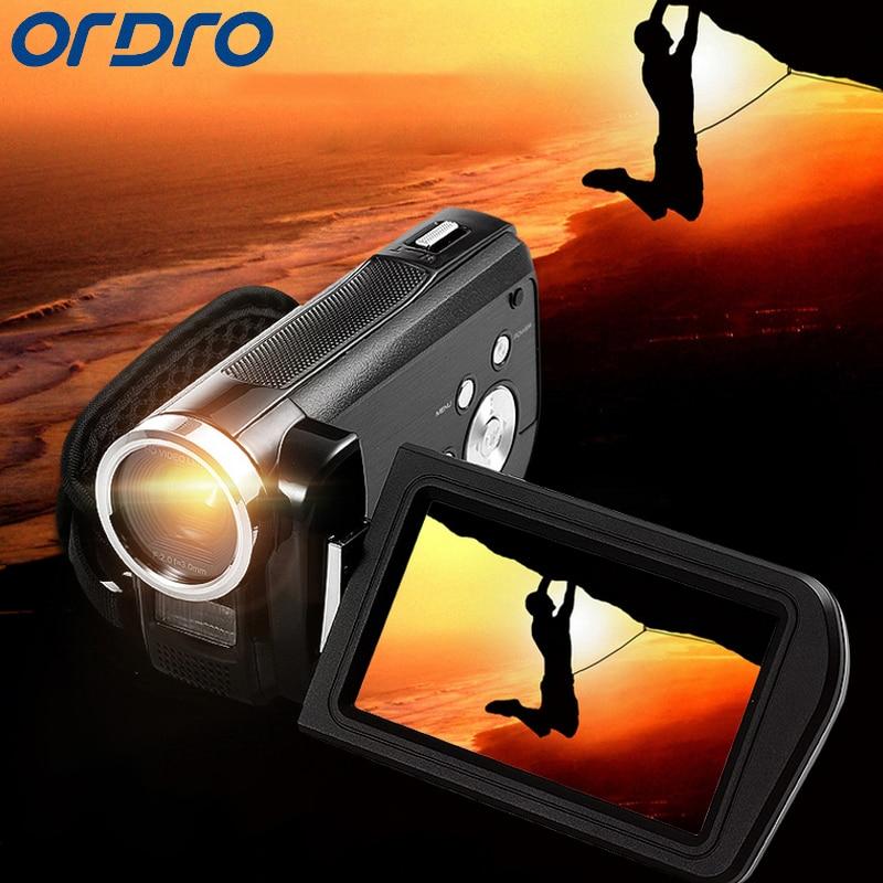 Ordro HD 16X 줌 디지털 카메라 24 메가 픽셀 CMOS 3.0 인치 회전 스크린 리플렉스 전문 비디오 레코더 캠코더