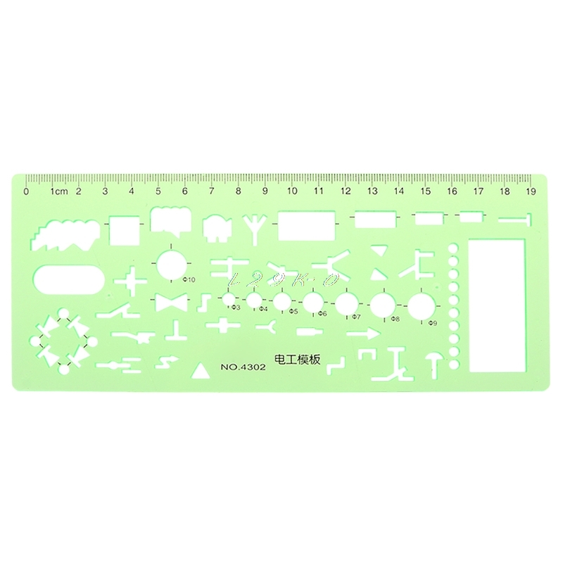 Plastic Ruler Geometric Template Ruler Stencil Measuring Patchwork Tool For Electrician Formwork