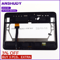 For Samsung Galaxy Tab 4 10.1 T530 T531 Touch Screen Digitizer Sensor Glass + LCD Display Panel Monitor Assembly + Frame