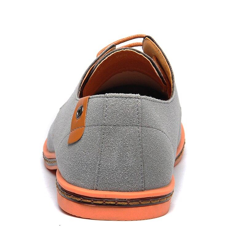 Confortable 38 48 jaune Taille Chaussures Mode La 554 Pour Appartements Casual Noir 2018 D'été bleu kaki Hommes gris Troupeau Plus Printemps marron 6Yxpq6SO