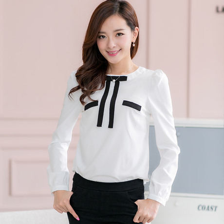 Compare Prices on White Blouse with Black Tie- Online Shopping/Buy ...