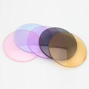 Image 2 - 1.56 photochromic משקפי שמש מיופיה ורוד כחול סגול צבע סרט מעומעם קוצר ראיה שרף משקפיים מרשם עדשות לעיניים