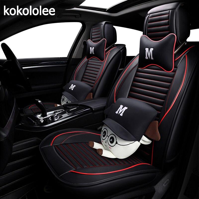 KOKOLOLEE pu housse de siège de voiture en cuir pour volkswagen passat b5 polo 6r polo berline vw polo 9n auto accessoires de voiture -style