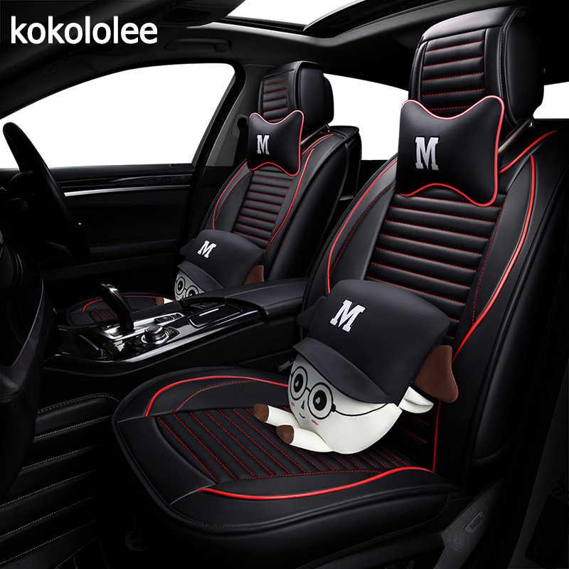 KOKOLOLEE سيارة تتميز بكسوة جلدية مصنوعة من البولي يوريثين غطاء مقعد لفولكس واجن باسات b5 بولو 6r بولو سيدان vw polo 9n اكسسوارات السيارات السيارات التصميم