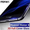 Mofi huawei honor 8 curva de vidro temperado cobertura completa 3d ultra fino protetor de tela huawei honor 8