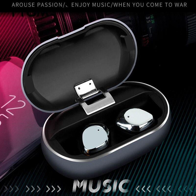YTOM TX26 8H Heavy Bass Metal Bluetooth 5 0 Headphone True Wireless Earphone Noise Canceling Earbuds
