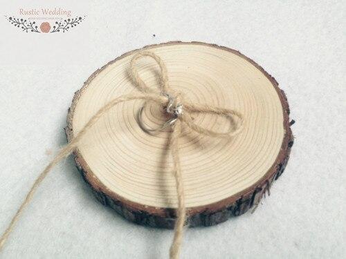 Wooden Ring Bearer Pillow Alternative Wood Wedding Ring HolderRing