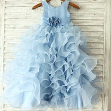 2016Flower Girl Dresses  Real Party Pageant Communion Dress Little Girls Kids/Children Dress for Wedding Summer Dress