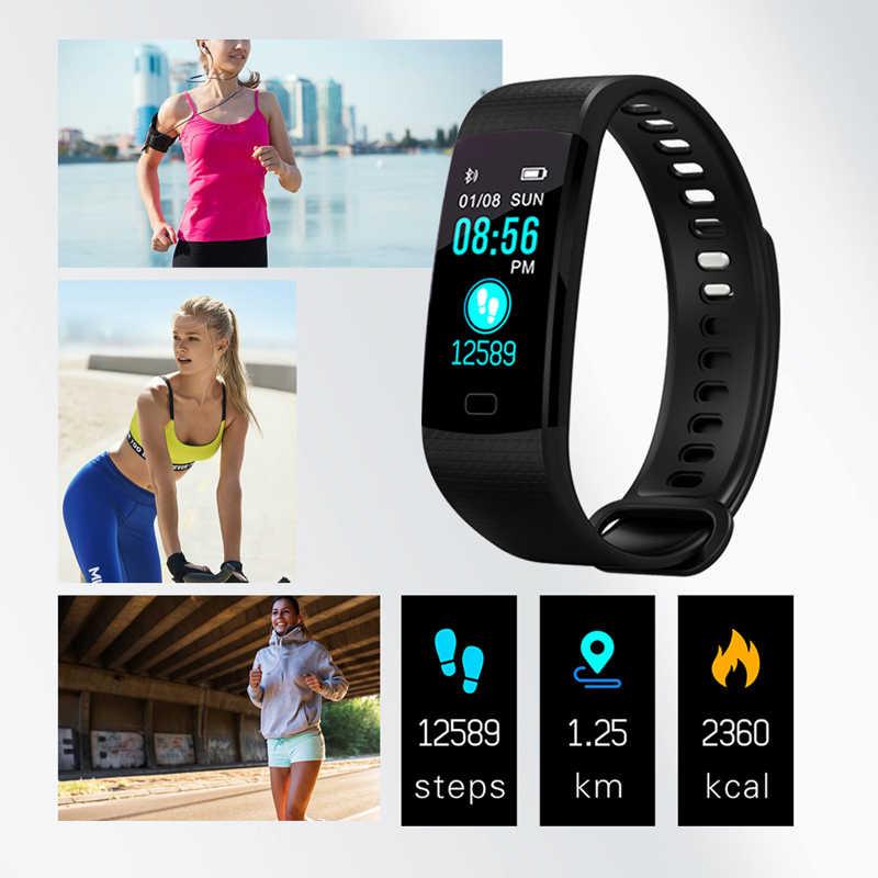 Opaska do monitorowania stanu zdrowia ciśnienia krwi tętno inteligentny zespół inteligentna opaska śledząca aktywność fizyczną Fitness Tracker opaska na nadgarstek pasuje do bitów Smart watch mężczyźni kobiety