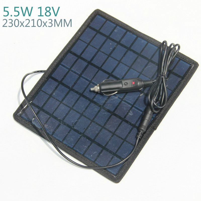 SUNYIMA <font><b>5W</b></font> 18V <font><b>Solar</b></font> Car Battery Charger Solars Power Battery Core Board Rechargeable <font><b>12V</b></font> Car Battery High Quality <font><b>Solar</b></font> Charger image