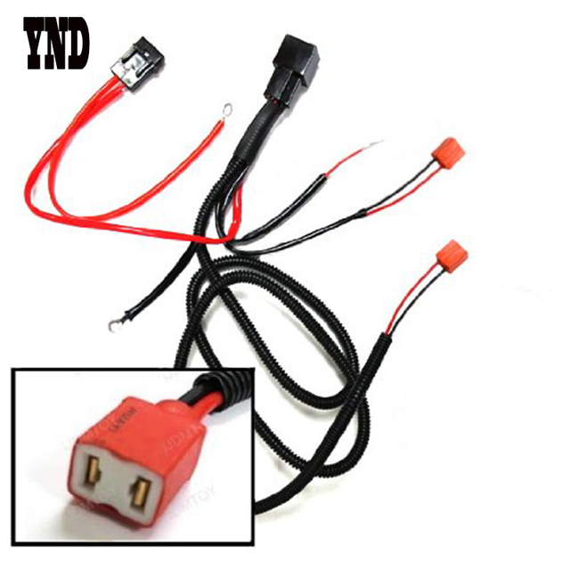 ynd h1 h3 h7 relay wiring harness for hid conversion kit add on fog rh aliexpress com relay wiring kit for bmw motorcycle Arduino Relay Wiring