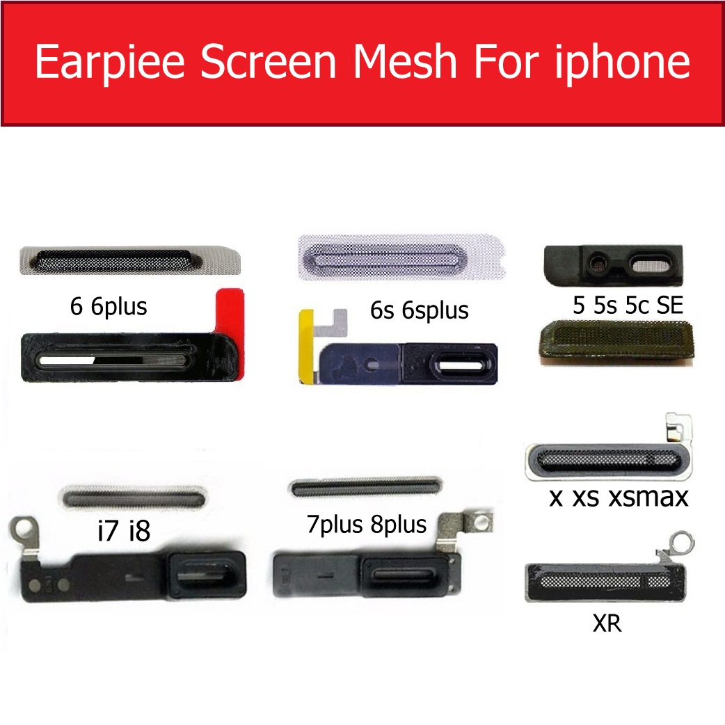 Anti-dust Screen Mesh For IPhone X XS MAX XR Earpiece Adhesive Glue Mesh For Iphone 5 6s 6 7 8 Plus Ear Speaker Grill Mesh Parts