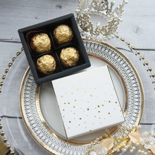 8.9*8.9*3.5CM gold star pattern 1 set Paper Box as Chocolate soap candy Christmas wedding Birthday Party Gift Packing