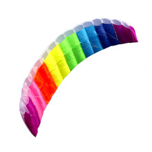 High Qualitity NEW 2m Rainbow Dual Line Stunt Flying Kite Games Kids Outdoor Toys Surfing Exercise Hand-eye Great Activity
