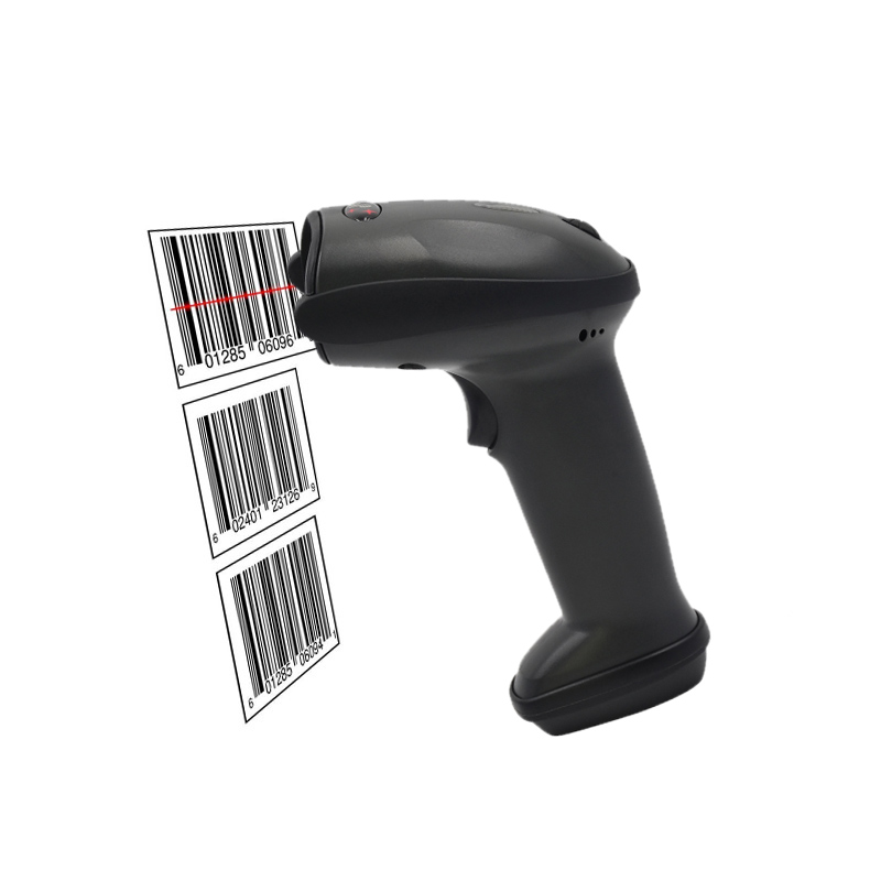 New Handheld Wired USB Automatic Laser Barcode Scanner Rechargeable Bar-code Reader For POS PC Laptop QJY99 usb laser handheld barcode scanner reader for desktop laptop 2m cable page 2