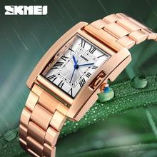 2020 SKMEI New Luxury Women Watches Fashion Rose Gold Ladies Wristwatches  Stainless Steel Waterproof Quartz Watch Montre Femme