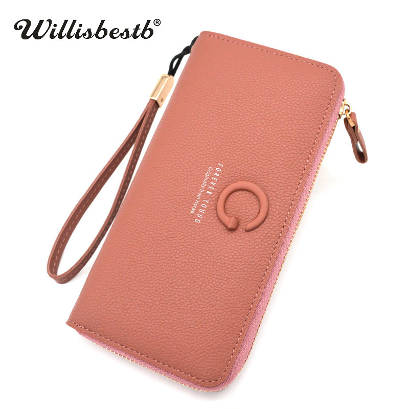 2018 New Brand Bag Purse Female Wallets Women Long Zipper Leather Ladies Coin Phone Pocket Purse Woman Wallet Clutch Card Holder brand 3 fold genuine leather women wallets coin pocket female clutch travel wallet portefeuille femme cuir red purse card holder