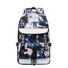 New mens foldable oxford print shoulder bag Geometric pattern waterproof, breathable, wearable large capacity vertical backpack