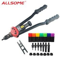 ALLSOME BT-607 16 Manual Riveter Gun Hand Rivet Tool Kit Rivet Nut Setting Tool Nut Setter M3/M4/M5/M6/M8/M10/M12