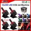 4 sztuk/partia Fly Case CO2 LED maszyna do dymu CO2 Jets cannon Cryo efekty dla klubów nocnych bary koncerty specjalne wydarzenia