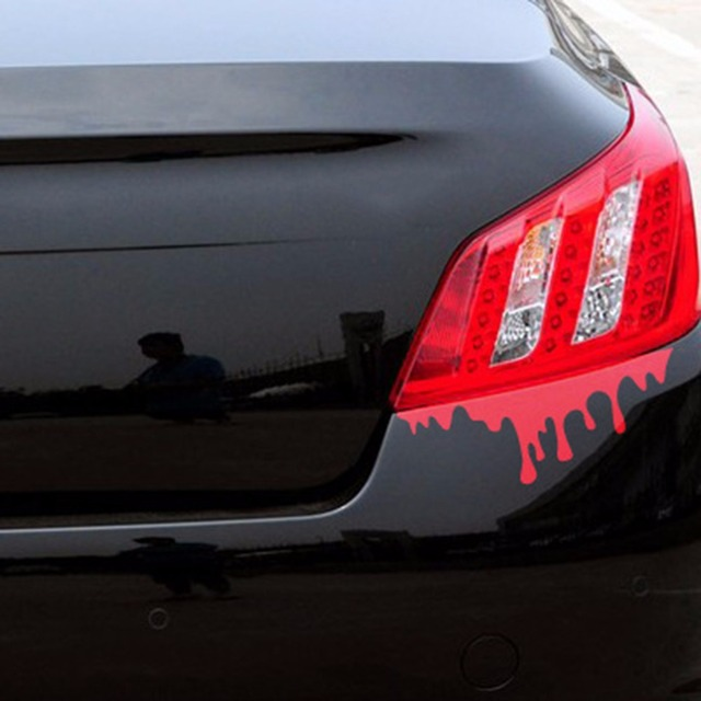 New Free Shipping Pc Cool Blood Reflective Car Sticker Tail - Cool car window decals
