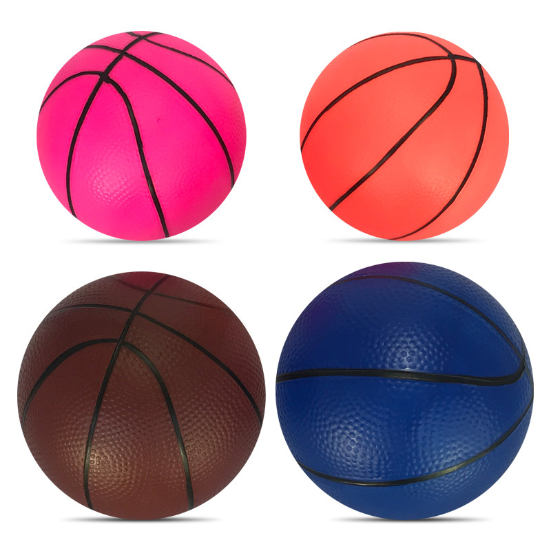 1Pcs Colorful Inflatable Basketball Ball Soft Thicken Bouncy Rubber Ball Play Learning Education Toys For Children Kids Baby