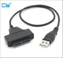 """Adaptador de disco duro USB 2,0 a SSD de 1,8 """", Micro SATA, adaptador de Cable HDD, 7 + 9, 16 pines"""