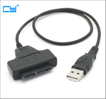 "USB 2.0 to 1.8"" SSD Micro SATA Adapter HDD Hard Drive Adapter Cable Adapter 7+9 16 Pin"