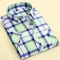 New 2016 Fashion Mens Plaid Shirts High Quality Short sleeveSlim Fit Brand Designer Summer Mens Casual Shirts