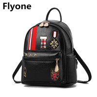 Small School Bags For Teenage Girls Mini Leather Women Backpack With Red Kiss Letter Color Black