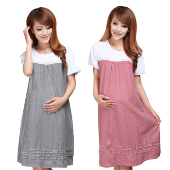 2020 Summer O-Neck Maternity Dresses Clothes for Pregnant Women Short Sleeve Dresses Clothes Casual Pregnancy Clothing Plus Size 2019 summer fasion maternity dresses short sleeve plaid dress for pregnant women casual o neck pregnancy clothing c0029