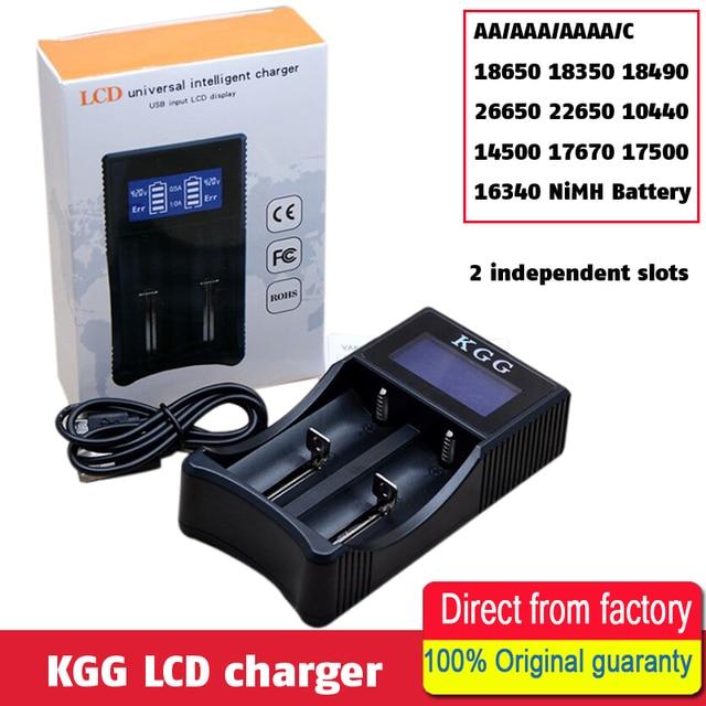 KGG Intelligent USB Smart Battery Charger LCD Display For AA AAA AAAA C