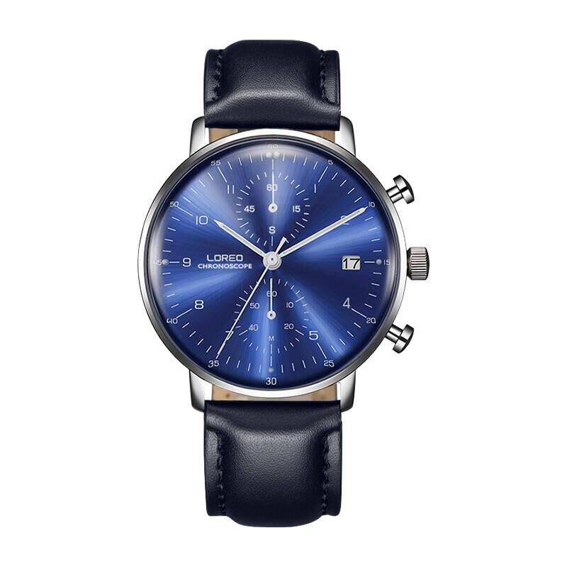 LOREO 6112 allemagne Bauhaus montres véritable haut décontracté montre de luxe chronographe hommes montres nouvelle annonce montre d'affaires