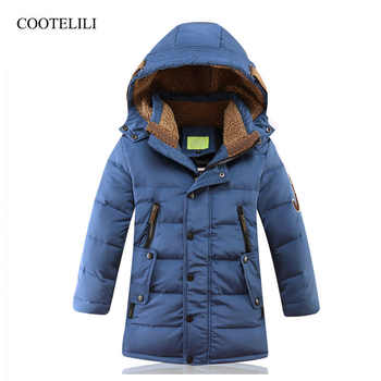 COOTELILI 90% White Duck Down Winter Overalls Down Jacket For Boys Toddler Winter Coat Teenage Clothes For Boys Parka 130-170cm - DISCOUNT ITEM  40% OFF All Category