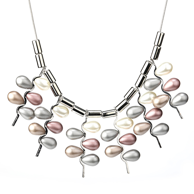 US $3 18 49% OFF|2019 New Arrival Unique Tassel Necklaces Snake Chains  Pearl Necklace Women Nickel Free Jewelry Dropshipping Collar Mujer Moda-in