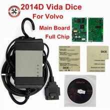 Pełny układ dla Volvo Vida Dice najnowszy 2014D narzędzie diagnostyczne wielu języków dla Volvo Dice Pro Vida Dice zielona tablica pełna funkcja