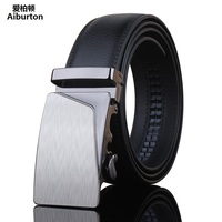 Fashion Irregular Trapezoid Bulge Automatic Buckle Black Wide Belt Designer Belts For Man