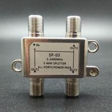 2018 5 2400 mhz 3 way divisor de alta frequência satélite sinal de energia divisores receptor de tv satélite para satv/catv design