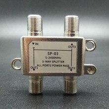 2018 5 2400MHz 3 way splitter alta frecuencia Divisores de potencia de señal de satélite receptor de TV por satélite para el diseño de STV/CATV