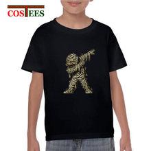 25effe1a Dabbing Ghost T shirt kids Dabbing Mummy tshirt Dabbing Skeleton  fluorescent design glow in the dark Dabbing Skull t-shirts boys