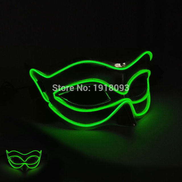 Cheap! 20 Style birthday party Mask Fox LED mask Lighting EL Mask as Christmas Halloween Novelty Lighting for Wedding Party